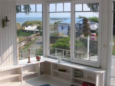 Strandferienhaus im eigenen Strandgrundstück mit Strandsauna  Das