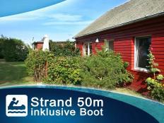 Modernes Holz-Ferienhaus an der Ostsee - Boot - Wlan - Bungalow - Naturstrand in Pepelow